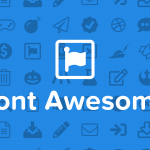Font Awesome banner